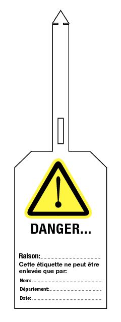 Étiquettes de prévention en PVC MAT