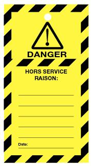 Étiquettes de prévention rectangulaire