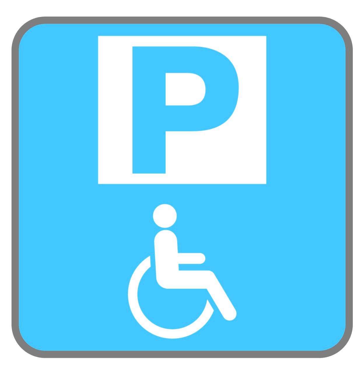 Panneau Parking PMR - Cyan