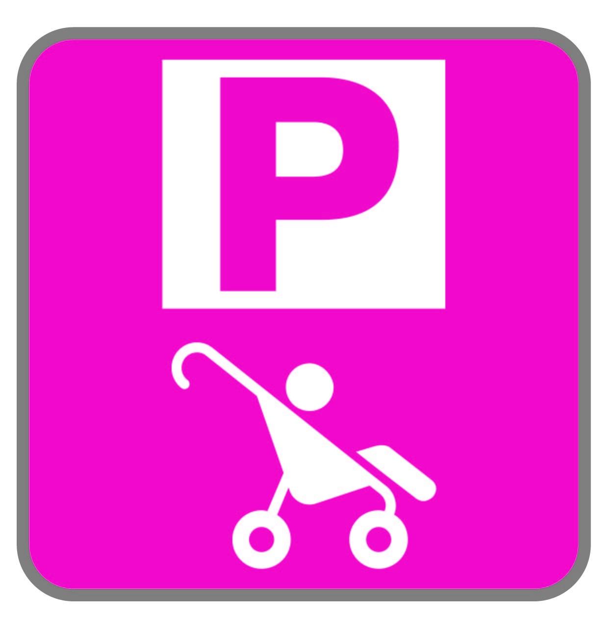 Panneau parking bébé - Magenta