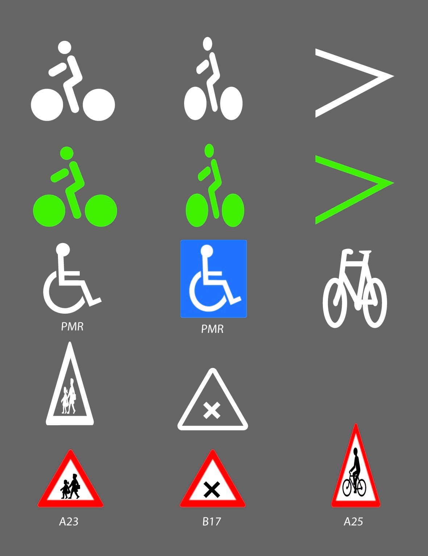Marquage préfabriqué - Signaux routiers