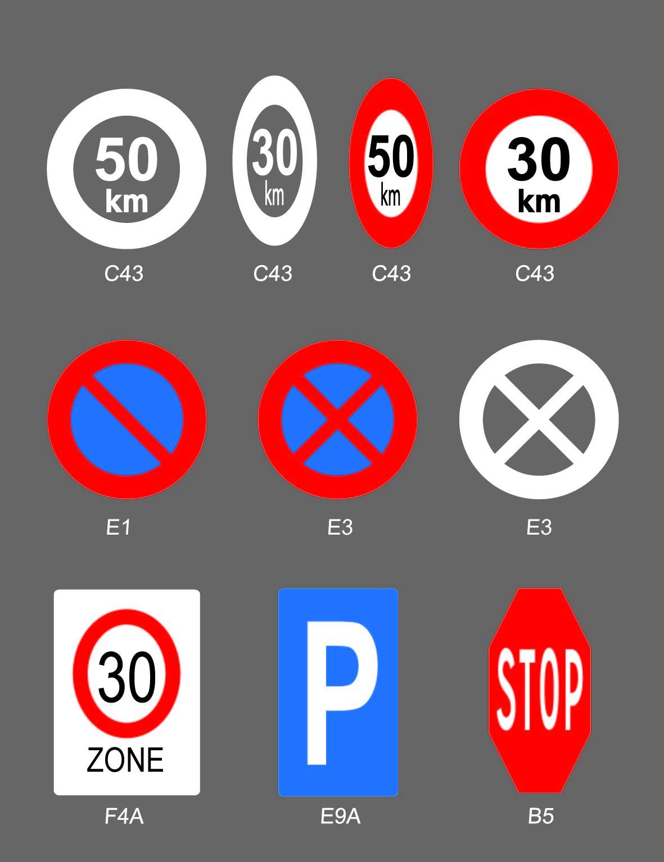 Marquage préfabriqué - Signaux routiers suite