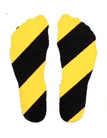 Empreintes de pieds adhésives antidérapante