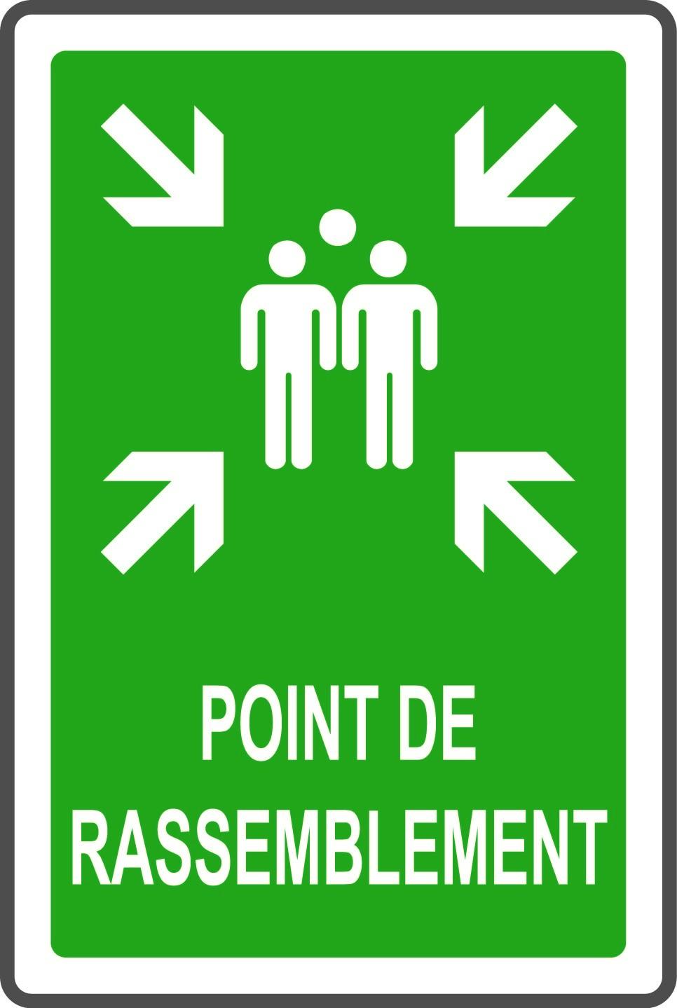 """Panneaux G2000 """"Point de rassemblement"""" - Rectangulaire"""