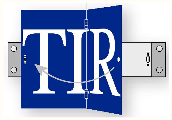 Panneau de transport - TIR articulé verticalement