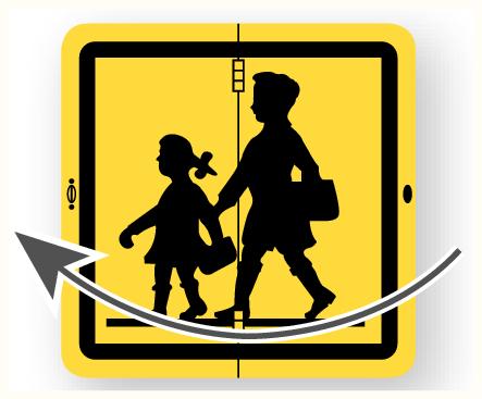 Panneau de transport scolaire - Articulé