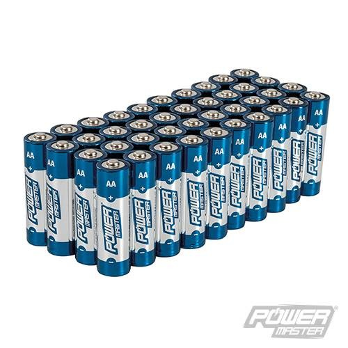Lot de 40 Piles alcalines Super LR6 type AA