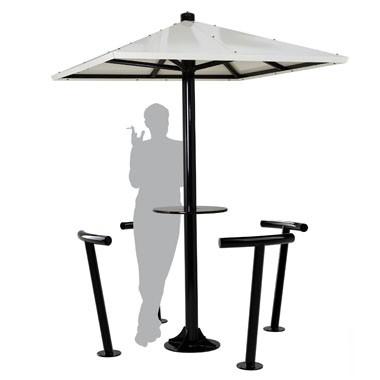 Abris fumeurs parasol