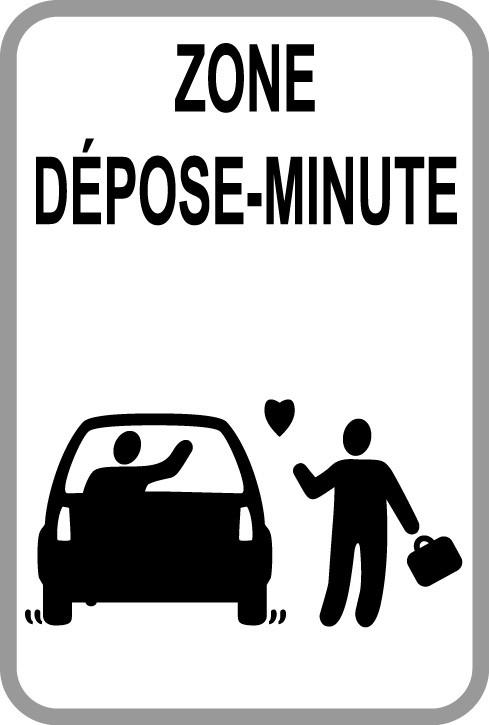 Panneaux dépose minute - Kiss & Ride 3
